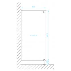 CH12-Z zuhany válaszfal méretek