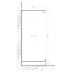 CX12-Z zuhany válaszfal méretek