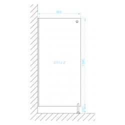 CS12-Z zuhany válaszfal méretek