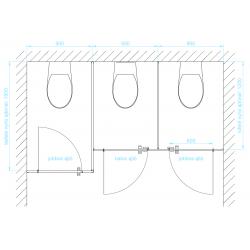 CS12 WC-fülke elrendezések