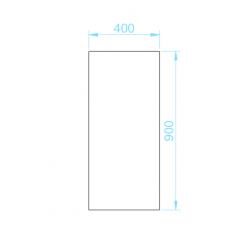 PK-4090 piszoár válaszfal panel méretek