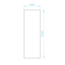 PK-40120 piszoár válaszfal panel méretek