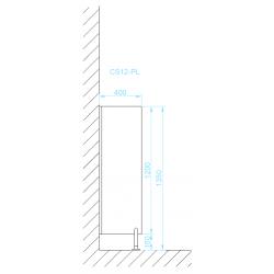 CS12-PL piszoár válaszfal méretek