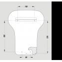 JVD-EXP EXP'Air kézbedugós kézszárító méretek