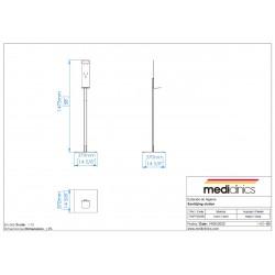 M-HGPT002B Állvány adagolóhoz méretek