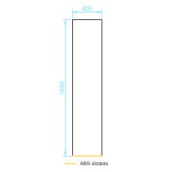 LF18-40 front panel 400 mm méretek