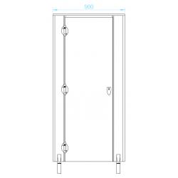 LX18FR90 WC fülke front 900 mm, inox