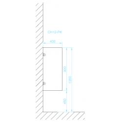 CH12-PK piszoár válaszfal méretek