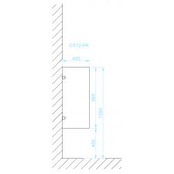 CS12-PK piszoár válaszfal méretek